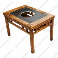 美式工业风餐桌 方型多人位餐桌 燃汽灶火锅桌子 热卖