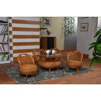 藤格格家具厂家促销实木童椅转椅休闲家具藤木家具藤艺茶几五件套小鸡形椅套件藤椅