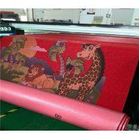 龙科地毯打印机 pvc丝圈地毯彩印设备 pvc瑜伽垫彩印 UV2000