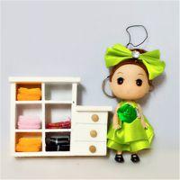 厂家批发 12CM可爱迷糊娃娃手机包包挂件 带钥匙扣 芭比娃娃