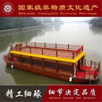 旅游哪里好玩黑龙江安徽广西木船厂家出售二层全镂空电动画舫游船服务类船