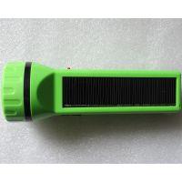 高品质德国进口太阳能发电板手电筒野营、露营、巡防照明灯通用 进口太阳能板LED手电筒