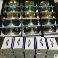 2016地摊热卖10元模式太阳镜彩膜墨镜偏光太阳镜女士男士眼镜