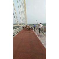 山东济宁泗水县泗水大桥彩色透水混凝土桥面施工
