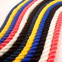 三野牌船舶用涤纶耐磨三股缆绳锚绳