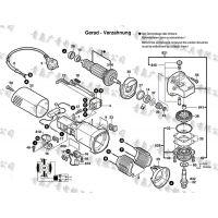 BOSCH博世GWS7-125 角磨机转子 定子 开关 碳刷 齿轮 主轴 机壳