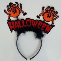 派对舞会用品 鬼节吸血红蜘蛛头扣化妆派对道具万圣节头箍