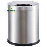 250*310圆形斜口房间垃圾桶 不锈钢直投式垃圾桶 小垃圾桶 宾馆客房垃圾桶批发
