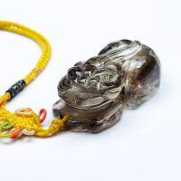 万汇 纯天然黄水晶貔貅挂件精雕天然水晶貔貅茶黄晶貔貅把玩摆件