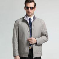 2015春装新款中年男式夹克 柒牌休闲男装立领薄款外套男免费代理