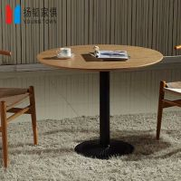 定制欧式家具复古铁艺实木餐桌, 家用饭店休闲咖啡厅实木餐桌