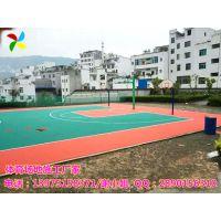 长沙广场公共篮球场施工说明|望城学校小区塑胶球场安装新标准