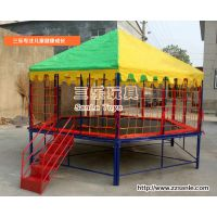幼儿园专用实力购买儿童游乐钢架蹦蹦床单人蹦极