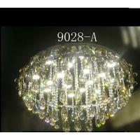 灯博士灯具灯饰LED水晶圆型房间客厅餐厅灯9028一件代发