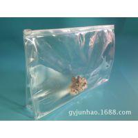 厂家订制 PVC风琴拉链袋 A4透明塑料立体薄膜包装袋 外贸品质