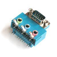 厂商直销 D-SUB双胞胎连接器 DR9公 DR9公 公座 PCB90度插板
