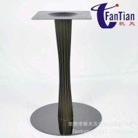 新款 家具五金优价供应餐厅餐桌配件小蛮腰圆形不锈钢桌子台脚