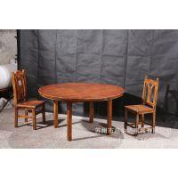 特价碳化防腐木户外实木餐桌火烧木庭院桌椅酒吧炭化木圆桌609