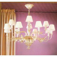 中元之光供应美式精美吊灯高档豪华别墅吊灯法式铜灯客厅卧室节能吊灯