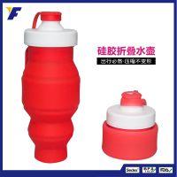 厂家定制时尚运动水杯带盖防漏创意伸缩水壶个性运动健身水杯