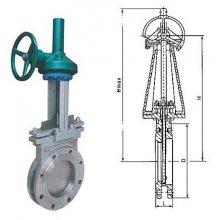 不锈钢气动刀型闸阀/PZ643H-10P DN300 生产定制电动插板阀 电机驱动插板阀 各种规格