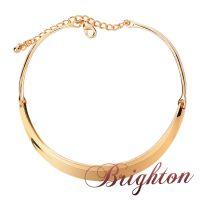 速卖通分销一件代发 布莱顿热卖 流行金色锌合金项圈