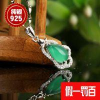 厂家直销 纯天然玛瑙 绿葫芦纯银s925银饰批发韩版明星同款今之华
