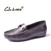 2015秋新款广东外贸女鞋批发 低跟平底真皮女单鞋 品牌韩国妈妈鞋