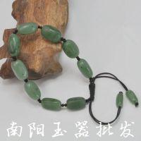 天然和田玉碧玉原石随形珠子手链 玉石手链 手串批发
