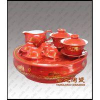 景德镇中国红陶瓷茶具,功夫茶具,青花玲珑茶具,蓝釉茶具
