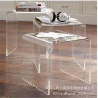U型亚克力餐桌/透明亚克力家具/亚克力茶几家具