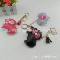 供应羊年韩版PU小羊匙扣挂件 定做羊年钥匙扣 皮革小绵羊钥匙配饰