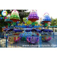 新型逍遥水母儿童游乐设备 许昌创艺6臂逍遥水母的生产厂家