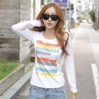 女式韩版t恤打底衫 女装地摊 库存秋季热卖产品 长袖女T恤