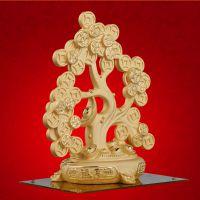 【古迹印象】家居发财摆件开业礼物绒沙金摇钱树工艺品招财树摆件