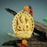 厂家直销黄杨木车挂件木质纪念礼物虚空藏菩萨佛像木雕艺术摆饰品