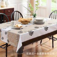 PVC桌布防水免洗 塑料圆桌正长方形餐桌茶几垫 防油耐热 欧式田园