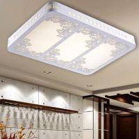 LED吸顶灯木艺镂空雕花客厅灯现代简约卧室餐厅灯具灯饰厂家批发