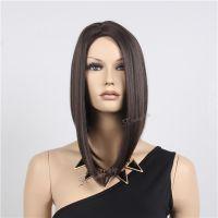 广州哪里有假发买 斯瑞泰批发女士高温丝发套 前长后短个性直假发