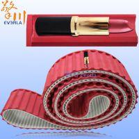 广州擎川特殊加工定制加红胶开槽聚氨酯PU同步带 输送口红定制同步带
