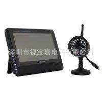 7寸无线DVR 家用监控套装 支持存储动态录像无线摄像机防水