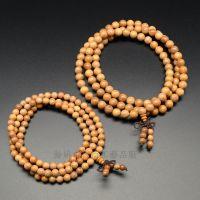 厂家直销批发精品天然红豆杉木质佛珠手链108颗念珠木雕手串文玩