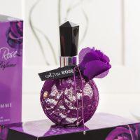 6854 正品奇美奕香漂亮黑红紫玫瑰香水 蕾丝女士香水批发100ml