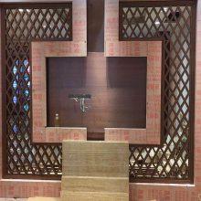 售楼部装饰订购不锈钢大型拉丝无指纹隔断 装饰屏风选购