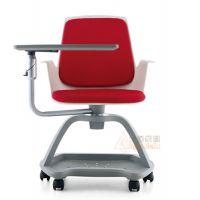 新型课桌椅 可360旋转写字板学生椅 塑料写字板会议椅厂家定制众晟家具