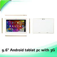 时尚薄款的双卡双待支持3G通话功能的9.6寸平板电脑厂家直销大量批发