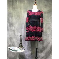 朵拉薇拉品牌女装专柜正品一手货源 真丝棉麻连衣裙库存折扣批发拿货渠道