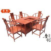 供应鸿运一生茶桌厂家直销古典红木家具