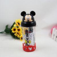 新款迪士尼正品新力WD-4242 400ml米奇吸管水壶运动水壶凉水杯