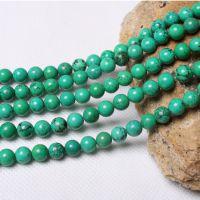 批发天然水晶 绿松石半成品6-16mm可穿手链 项链饰品